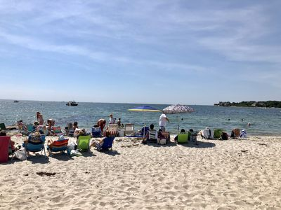 Gorgeous summer day at New Silver Beach