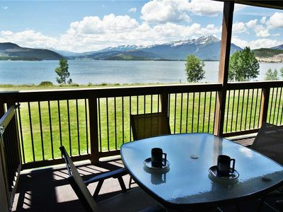 Photo for Lakefront- Fully Equipped Kitchen. Mountain, Lake Views. Deck, Fireplace, Hot Tub, Near Amphitheater