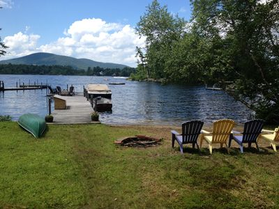 Photo for Lake Winnipesaukee Water Front Cottage With Private Dock And Beach