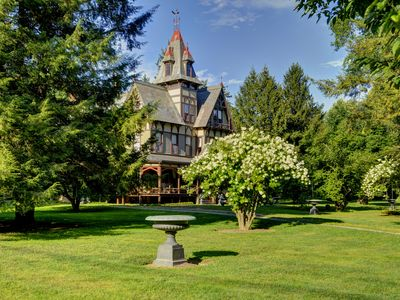 Photo for Elegant Historic Hudson Valley Gilded Age Mansion On 4+ Parklike Acres
