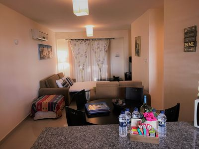 Photo for Demetris apartment, communal adult / baby pool, gym, wifi, huge balcony & BBQ