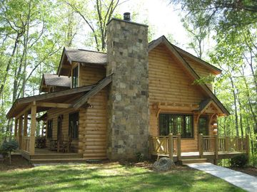 Call 828-243-0506  Luxury Log Cabin With Spa Bathroom,  Hot Tub, Fire Pit, Wifi