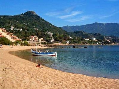 Photo for Appart in Corsica 200m from the beach with air conditioning and large terrace with sea view
