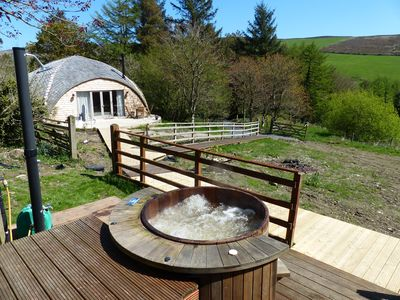 Photo for Orchard Cottage at Ballawyllin Farm - luxurious modern dome cottage