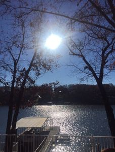 Photo for Beautiful Lake Front View! Wonderful Secluded Lake House close to all the fun!