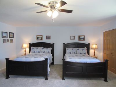 Spacious bedroom with 2 double beds
