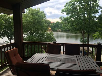 Stan's Lakefront Home II, Lake Hamilton Main Channel with Party Barge  Rental - Piney