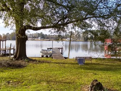 Perfect getaway with lake view and dock! A must see!!
