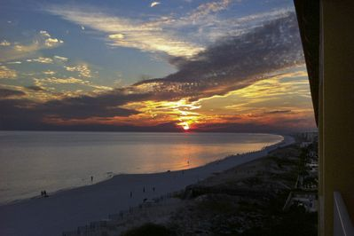Sunset off the balcony...yeah it is that pretty