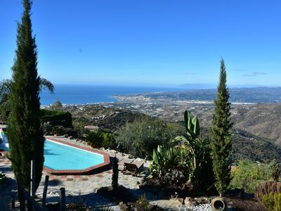 Photo for luxurious Villa with spectacular views of the  coast, swimming pool, Jacuzzi,...