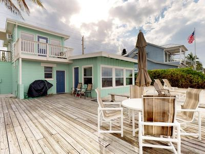 Photo for Waterfront dog-friendly bungalow w/ bay views - watch for dolphins from deck!