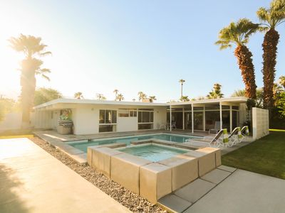 Photo for Serene Mid-Century Oasis with Salt-Water Pool