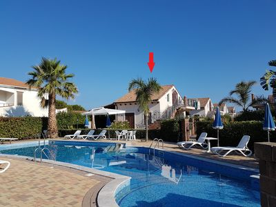 Photo for Apartment overlooking the pool, near Cefalù
