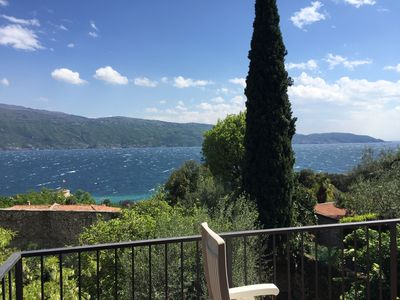 Photo for The terrace on the lake of the Oliveto residence.