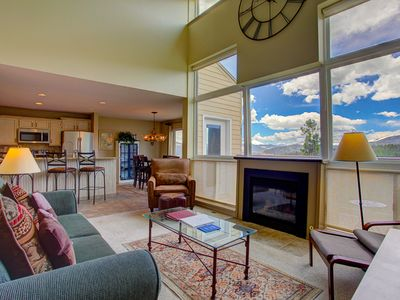 Photo for 2 bedroom condo with mountain views, common hot tub access, and fireplace