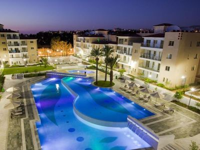 Photo for Paphos Apartment, Sleeps 4 with Pool, Air Con and WiFi