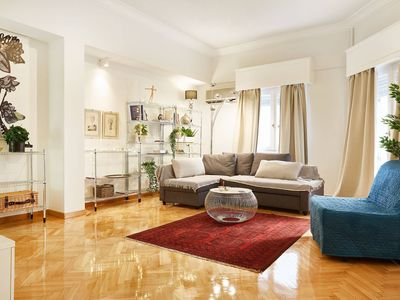 Photo for Spacious elegant 3 bedroom apartment in the heart of Athens
