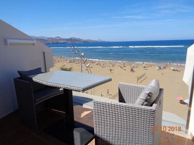 Photo for Beautiful beachfront apartment in Las Canteras