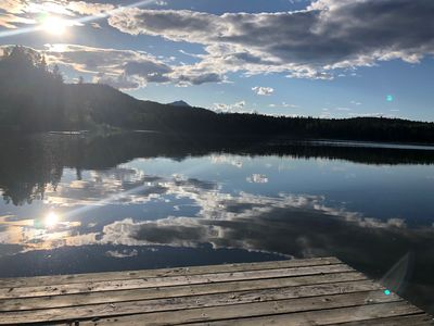 Photo for Lakefront Mountain Retreat + Heritage Cabin + RV parking!