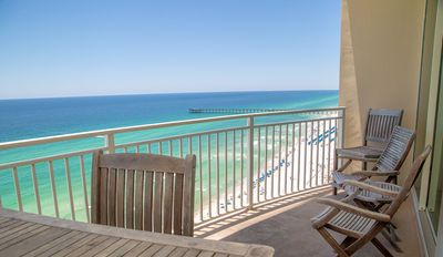 Photo for New! Aqua Resort 2 Bed 2 Bath Lux Gulf Front Condo located near Pier Park!