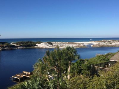 Photo for Gulf view, Lakefront, Private dock, Kayak, Paddle Board in Santa Rosa Beach