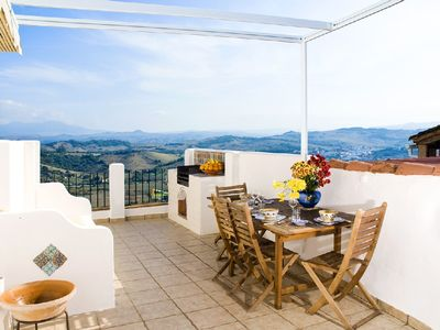 Photo for Charming Jimena house with terraces and panoramic views as far as Gibraltar