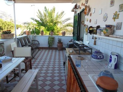 Photo for Penthouse with panoramic terrace facing the beach of Mondello