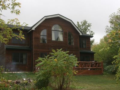 Photo for Beautiful Northern Lake George Custom Cedar Home with 300 ft Direct Lakefront