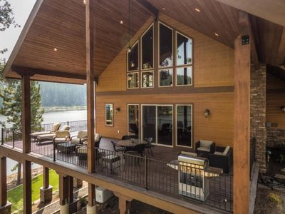 Photo for Breathtaking Waterfront Home w/ Private Dock