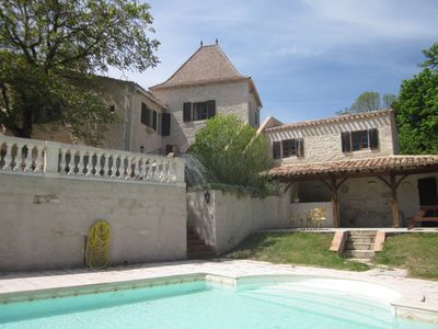 Photo for Originally built in medieval times the villa offers beautiful Quercy views