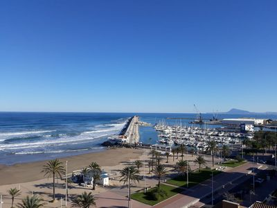 Photo for APARTMENT IN FIRST LINE OF GANDIA BEACH WITH MAGNIFICENT SEA VIEWS