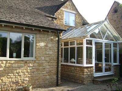 Cottage with conservatory
