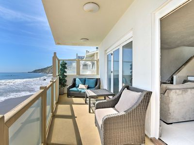 Photo for NEW! Beachfront Malibu House w/ 3 Decks & Patio!