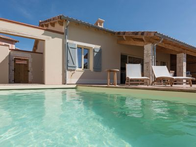 Photo for Villa 16, Luxury 3 bed, 3 bath villa, heated  pool on Chateau estate with vines