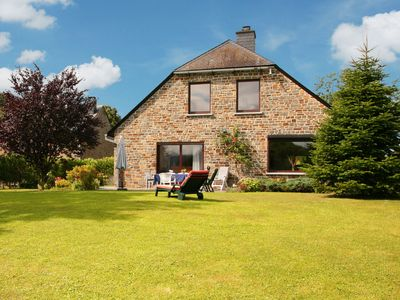 Photo for Stone villa on the edge of the village with stunning views of the woods.