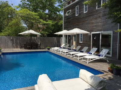 Photo for Pool, Hot Tub, Roof Deck with Bay Views! PINES home close to the harbor!