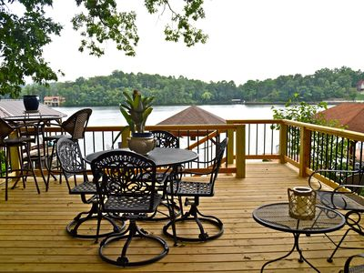 Photo for Beautiful lake home with magnificent view