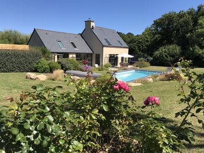 Photo for 3 'from the beaches - heated swimming pool - Port-Blanc - Côte de Granit Rose