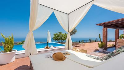 Photo for Modern-style holiday home with terrific sea views near Torrox