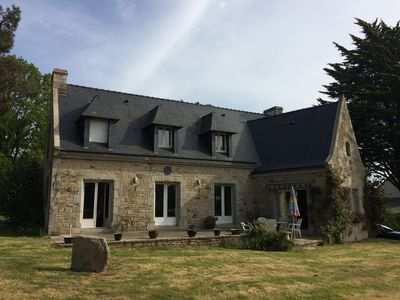 Photo for Large stone house in a beautiful park near Carnac and La Trinité.