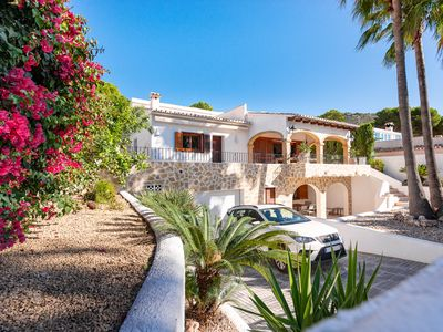 Photo for Villa El Portet Beach. 150m. from the beach with beautiful pool