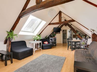 Photo for Lovely Apartment in Bayeux with Courtyard & Heating