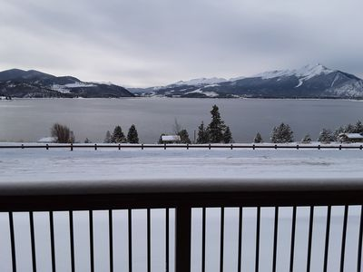 True, unobstructed view of Lake Dillon from the balcony!