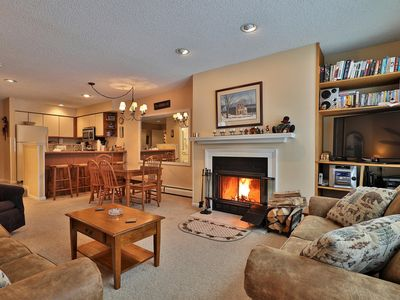 Photo for 3 bedroom ski on/off Winterplace condo, Sleeps 8
