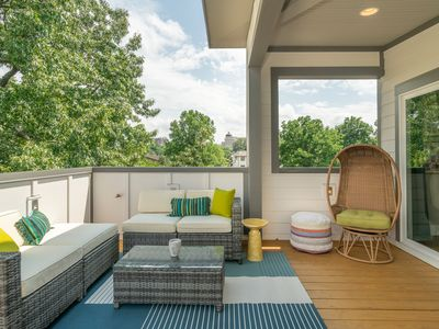 Photo for Music Row Manor w/Roofdeck & Shuffleboard • Mins to Broadway, Gulch, 12 South!