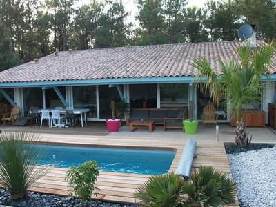 Photo for Typical house in Gironde with air conditioning