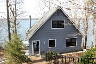A-Frame cottage house overlooking the lake with a west-ward view!