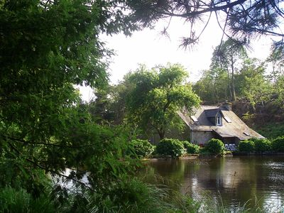 Photo for MOULIN DU 18 ème on wooded property of 40 Ha with ponds and waterways