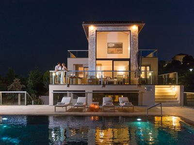 Photo for A wonderful stylish villa with a private pool and an even more impressive view!
