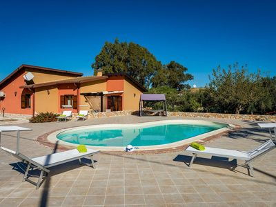 Photo for Cozy furnished villa with private pool and open veranda with barbecue